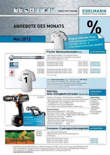 angebot des monats april 2012 team baucenter. Black Bedroom Furniture Sets. Home Design Ideas
