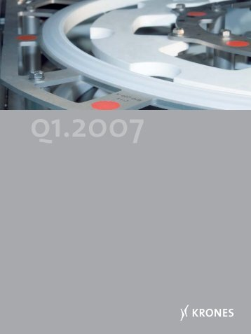 Report for the first quarter 2007 - Krones AG