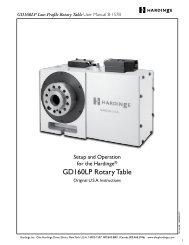 GD160LP Low-Profile Rotary Table - Hardinge Inc.