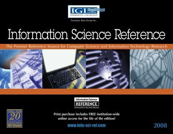 Information Science Reference, Catalog 2008