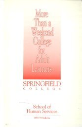 1992-1993 School of Human Services Catalog - Springfield College