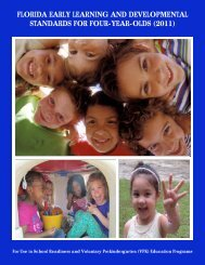 florida early learning and developmental standards for four-year-olds