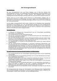Die Vorsorgevollmacht - Rechtsanwälte Putz & Partner