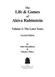 Life & Games Akiva Rubinstein - Russell Enterprises