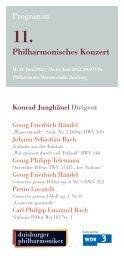11. Philharmonisches Konzert - Die Duisburger Philharmoniker