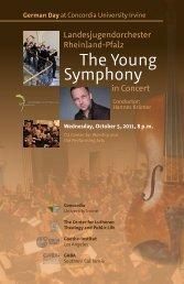 Concert Program - German Day
