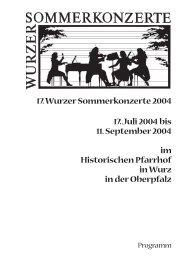 2004 - Wurzer Sommerkonzerte