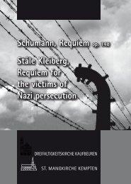 Schumann, Requiem op. 148 Ståle Kleiberg, Requiem for the ...