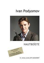 Ivan Podyomov HAUTBOÏSTE - Andreas Janotta Arts Management