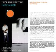 Neue Klänge - Lucerne Festival