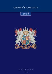 215266 CCM 00 Contents - Christ's College - University of Cambridge