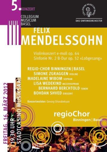 MENdElssOhN - Collegium Musicum Basel