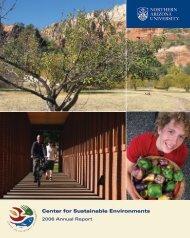 Center for Sustainable Environments - Northern Arizona University