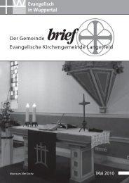 Die Ausgabe Mai 2010 finden Sie hier - Hospiz-Stiftung Wuppertal