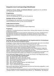 Integration durch mehrsprachiges Musiktheater - Regierung der ...
