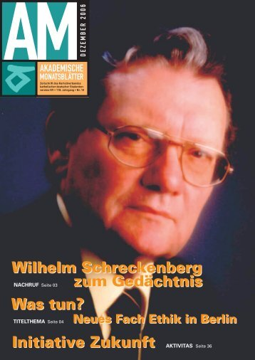 Wilhelm Schreckenberg zum Gedächtnis Initiative ... - Kartellverband