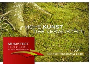 21. Oktober 2012 - Musikfest Erzgebirge