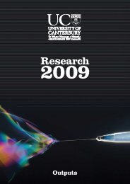 Outputs Section - Research & Innovation - University of Canterbury