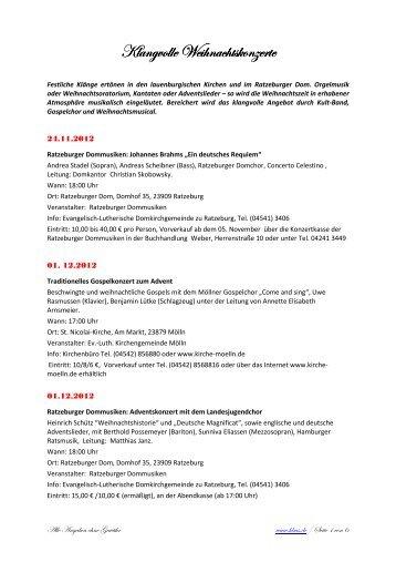 Klangvolle Weihnachtskonzerte_2012_Meldung - Herzogtum direkt