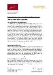 Weihnachtsmarkt-Splitter - Stuttgarter Weihnachtsmarkt