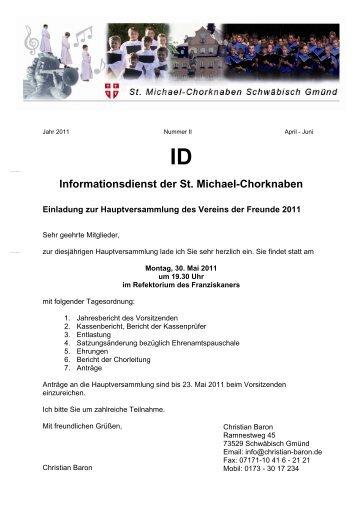 Achtung - St. Michael-Chorknaben