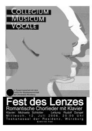 Klavier: Michaela Schlotter Leitung - collegium musicum vocale eV