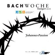 ohannes-Passion - Bach Cantatas