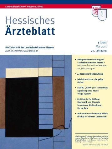 Hessisches Ärzteblatt Mai 2011 - Landesärztekammer Hessen