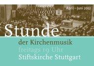 Stunde der Kirchenmusik - Stiftskirche Stuttgart