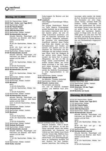 Montag, 28 - Radio Bremen