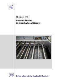 2 Beständigkeit von Edelstahl Rostfrei in chloridhaltigen Wässern ...