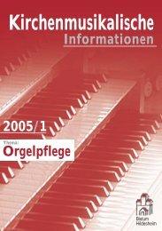 Kirchenmusikalischen Informationen - Bistum Hildesheim