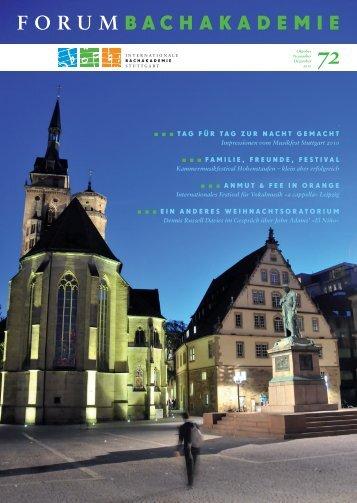 zum Treffer... - Internationale Bachakademie Stuttgart