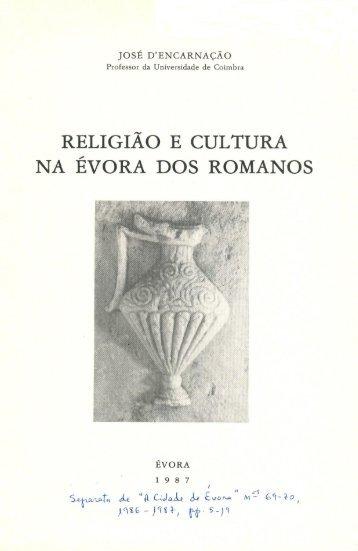 RELIGIÃO E CULTURA - Universidade de Coimbra