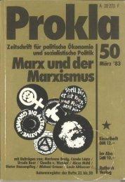 I Marx unci der Marz'83 Marxismus - Prokla