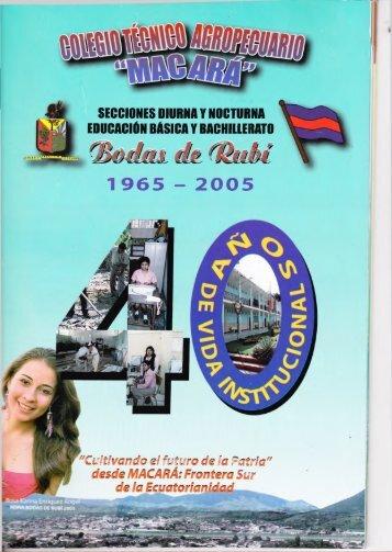 Revista por las Bodas de Rubi del CTAM