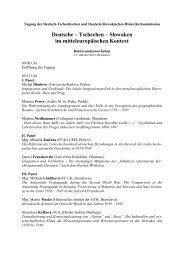 Deutsche – Tschechen – Slowaken im mitteleuropäischen Kontext