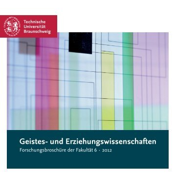 Geistes- und Erziehungswissenschaften - Technische Universität ...