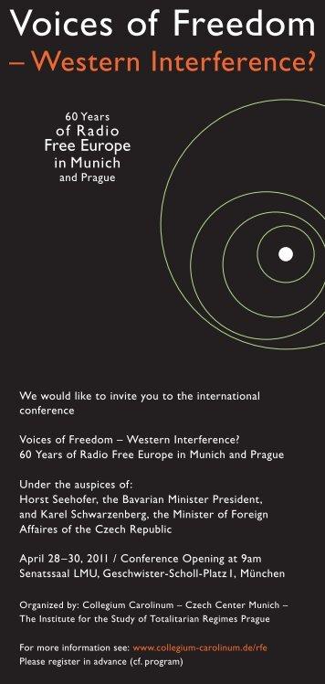 Invitation to the conference / pozvánka