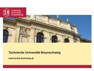 Foil Slides (pdf) (1 MB) - Technische Universität Braunschweig