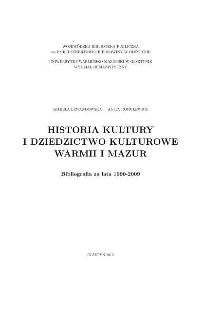 Historia Kultury I Dziedzictwo Kulturowe Prusowie