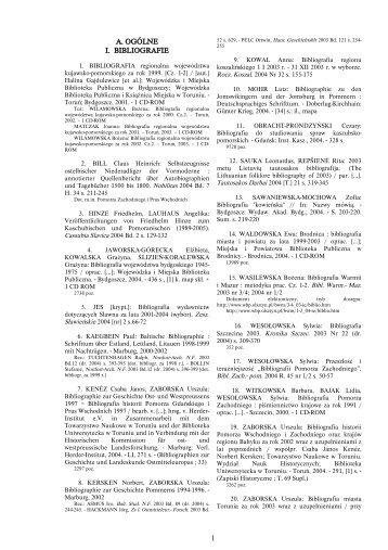 A. OGÓLNE I. BIBLIOGRAFIE 1 - Uniwersytet Mikołaja Kopernika
