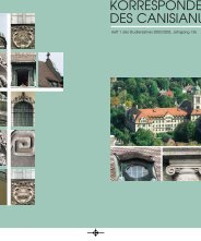 Heft 1, Jahrgang 136 - Sommersemester 2003 - Canisianum