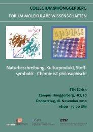 symbolik - Chemie ist philosophisch! - Collegium Helveticum - ETH ...