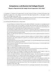 Competenze e attribuzioni del Collegio Docenti