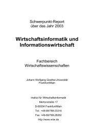 Wirtschaftsinformatik und Informationswirtschaft - Chair of Business ...