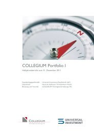 COLLEGIUM Portfolio I - Universal-Investment