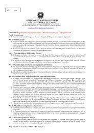 Regolamento Collegio Docenti - Manfredi Tanari