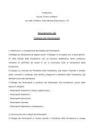 Regolamento del Collegio dei Partecipanti - Fondazione Milano