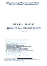 Principali Delibere del Collegio docenti - A. Venturi